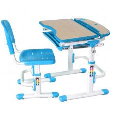 FUN DESK SORRISO Gyerek íróasztal székkel - kék Előnézet