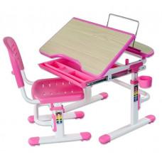 FUN DESK SORRISO Gyerek íróasztal székkel - rózsaszín Előnézet