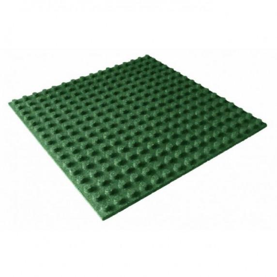 Biztonsági ütéscsillapító gumilap burkolat 100x100cm 3cm vastag - zöld