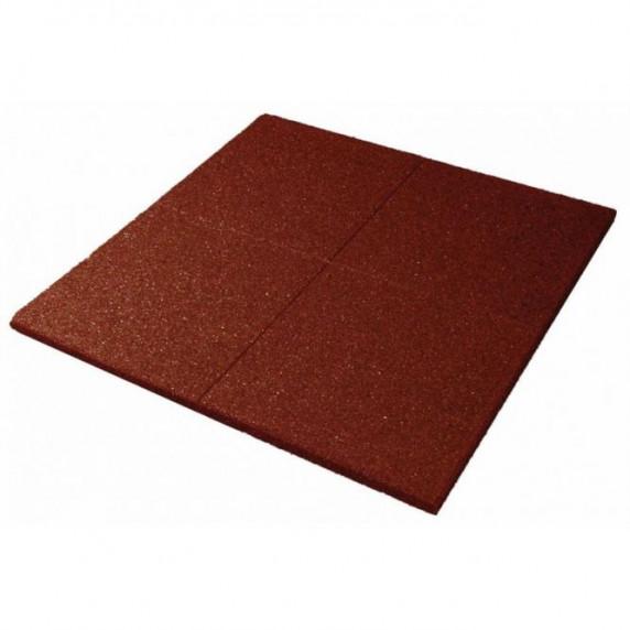 Biztonsági ütéscsillapító gumilap burkolat 100x100cm 3cm vastag - vörös