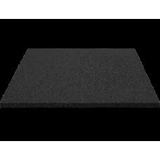 Biztonsági ütéscsillapító gumilap burkolat 100x100cm 3cm vastag - fekete Előnézet