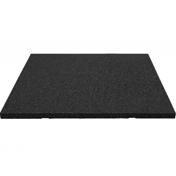Biztonsági ütéscsillapító gumilap burkolat 100x100cm 3cm vastag - fekete