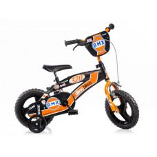 """DINO BMX 12"""" gyerek bicikli - fekete/narancssárga Előnézet"""