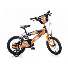 """DINO BMX gyerek bicikli 14"""" - fekete/narancssárga Előnézet"""
