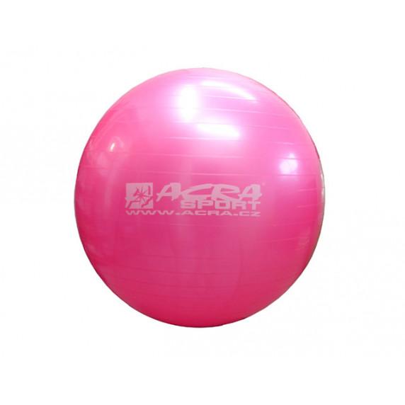 Gimnasztikai labda 65 cm ACRA - rózsaszín