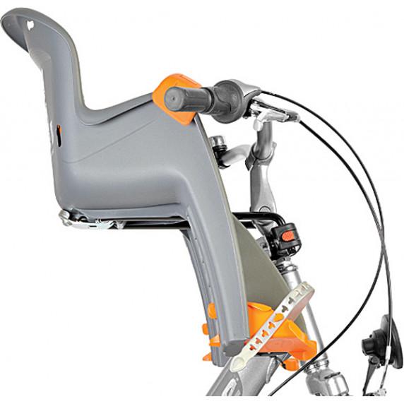 Kerékpár gyerekülés előre POLISPORT Bilby Junior 8632600002 - szürke/ezüst