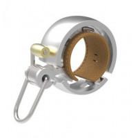 Kerékpár csengő Knog OI BELL LUXE ezüst - kicsi