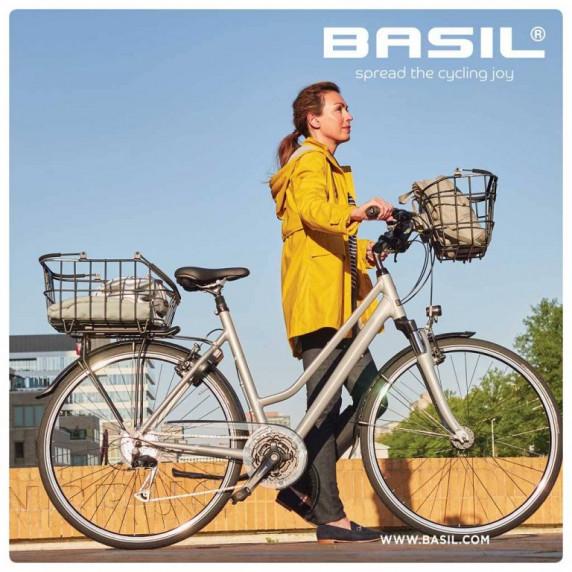 Kerékpár kosár kormányra Basil BREMEN ALU LED világítással