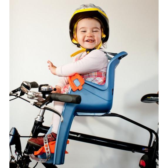 Kerékpár gyerekülés előre, hátsó rögzítésű POLISPORT Bilby Junior 8632800007 - lila/sötét szürke