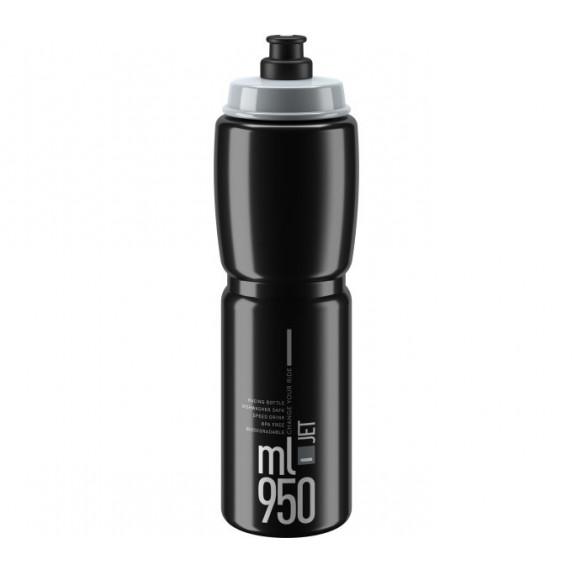 Kerékpár kulacs  ELITE JET CLEAR 950 ml - fekete/szürke
