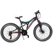 """KANDS SNIPER Junior hegyi kerékpár 24"""" - fekete/piros Előnézet"""