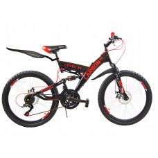 """Carbon LEVEL férfi kerékpár 26"""" - fekete/piros Előnézet"""