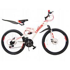 """Carbon LEVEL férfi kerékpár 26"""" - fehér/piros Előnézet"""