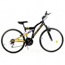 """GOETZE CORE férfi kerékpár 26"""" - fekete/sárga Előnézet"""