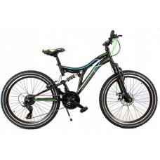 """KANDS SNIPER Junior hegyi kerékpár 24"""" - fekete/zöld Előnézet"""