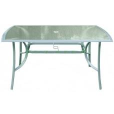 InGarden Alumínium kerti asztal 150/90 Ezüst kerettel Előnézet