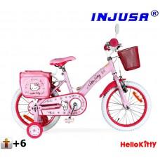 Injusa Hello Kitty 2016 gyerek bicikli 16'' - pink  Előnézet