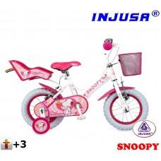Injusa Snoopy 12'' White kerékpár Előnézet