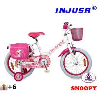 "INJUSA Snoopy White 2017 lány kerékpár 16"""