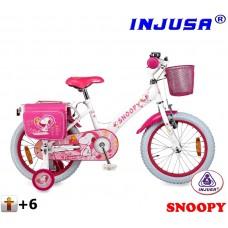 """INJUSA Snoopy White 2017 lány kerékpár 16"""" Előnézet"""