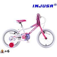 """INJUSA Butterfly Pink kerékpár 16"""""""