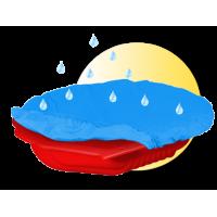 Inlea4Fun Nagy Kagyló homokozó takaróval - piros