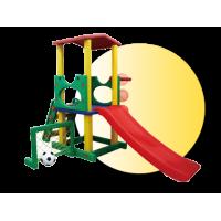 Inlea4Fun kerti játszótér csúszdával és sporteszközökkel 230 cm