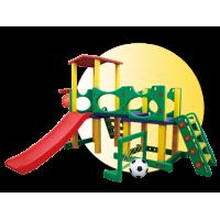 Inlea4Fun 2XL mega kerti játszótér csúszdával és sporteszközökkel 226 cm