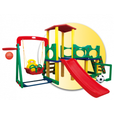 Inlea4Fun 3XL mega kerti játszótér csúszdával és hintával 320 cm Előnézet
