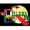 Inlea4Fun 3XL mega kerti játszótér csúszdával és hintával 320 cm