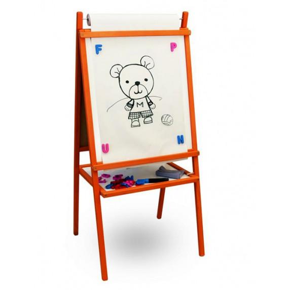 Állványos mágnes- és rajztábla Inlea4Fun TEDDY MOP - Narancssárga