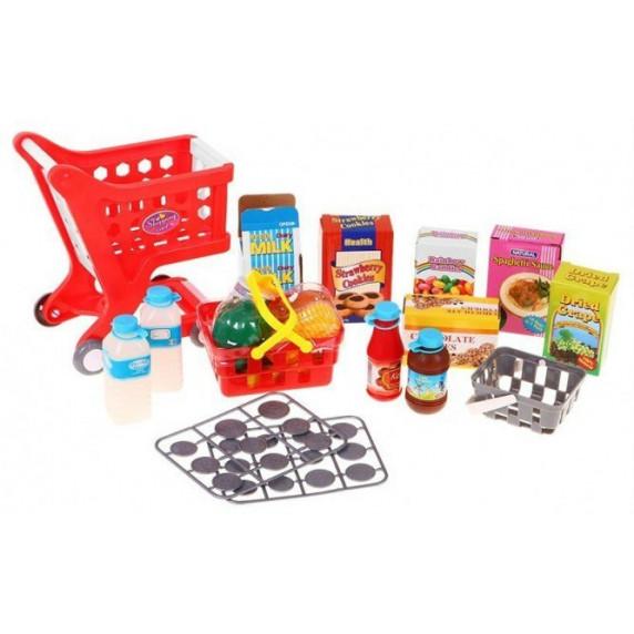 Inlea4Fun Cash Shop - Bevásárlókosár pénztárgéppel Red