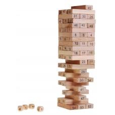 Inlea4Fun Wood Toys Jenga fa torony társasjáték Előnézet