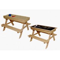 Inlea4Fun ZOT kerti játszó pad piknik asztal 2 az 1-ben Előnézet