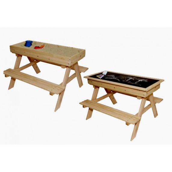 Inlea4Fun ZOT kerti játszó pad piknik asztal 2 az 1-ben