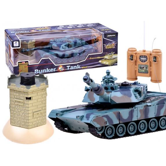 RC Tank Battle Tank interaktív rejtekhellyel