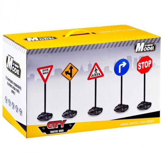 Játék közlekedési táblák 83 cm Inlea4Fun TRAFFIC SIGN