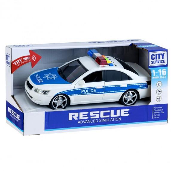 Inlea4Fun City Service rendőrautó hang- és fényhatásokkal 24 cm