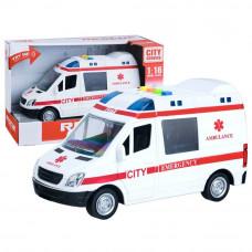 Inlea4Fun City Service mentőatuó hang- és fényhatásokkal 22 cm Előnézet