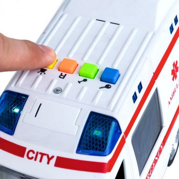 Inlea4Fun City Service mentőatuó hang- és fényhatásokkal 22 cm - ZA2118