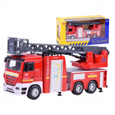Tűzoltóautó fény- és hanghatásokkal Inlea4Fun CAST MODEL  Előnézet