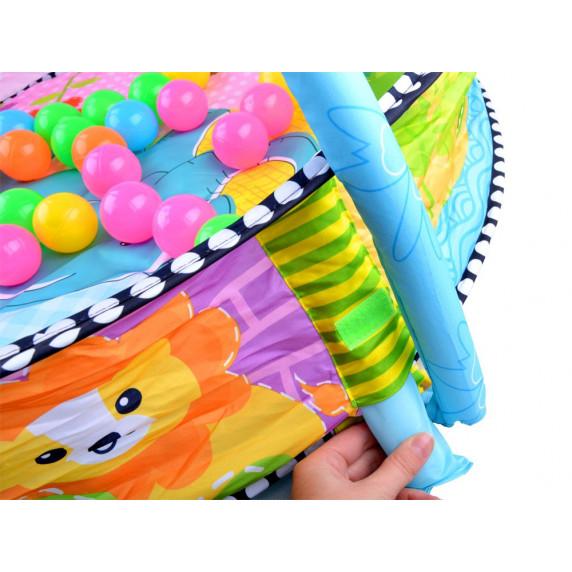 Játszószőnyeg színes labdákkal 2 az 1-ben Inlea4Fun BABY ACTIVITY