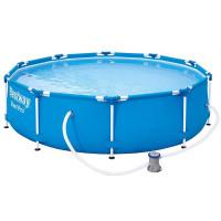 Fémvézas medence BESTWAY 56679 Steel Pro 305x76 cm papírszűrős vízforgatóval