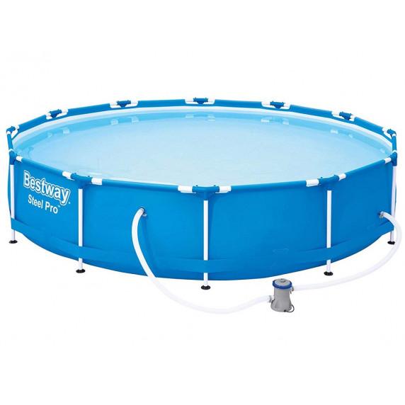 Fémvázas medence BESTWAY 56681 Steel Pro 366x76cm papírszűrős vízforgatóval