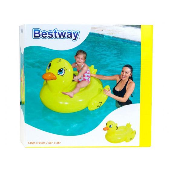 BESTWAY 41102 Felfújható kacsa lovagló matrac 135x91 cm