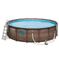Fémvázas medence BESTWAY 56977 Power Steel 549x122 cm vízforgatóval és létrával