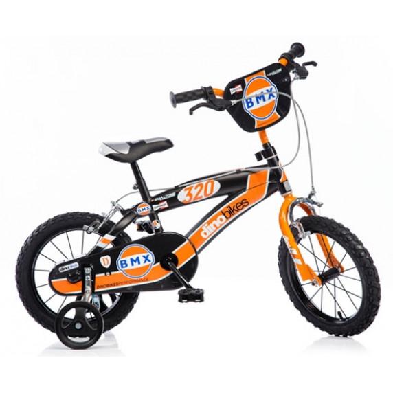 """DINO BMX gyerek bicikli 14"""" - fekete/narancssárga"""