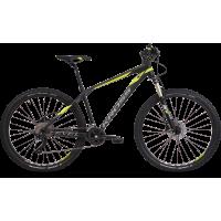 """KROSS MTB XC Hegyi kerékpár LEVEL 6.0 17"""" S 2020 - matt fekete / lime / grafit szürke"""