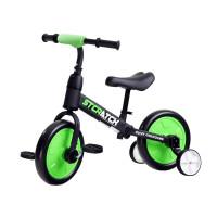 Gyerekjármű bicikli és futóbicikli 3az1-ben Inlea4Fun STCRATCK - zöld