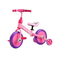 Gyerekjármű bicikli és futóbicikli 3az1-ben Inlea4Fun MIAOW KING - rózsaszín